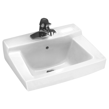 American Standard Declyn Wall Mounted Sink with 4 in Centerset White - Handles 4' Centerset Bathroom Sink