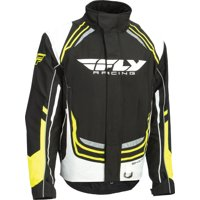 Fly Racing Black/White/Hi-Viz Yellow Snow Youth SNX Pro Jacket Size Youth Large 470-4024YL