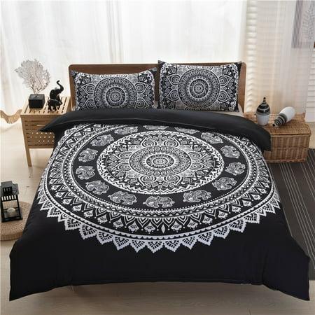 3Pcs/Set European lines bedding set queen double bed size