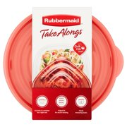 Rubbermaid Take Alongs Medium Bowls 50 oz Containers + Lids, 3 count