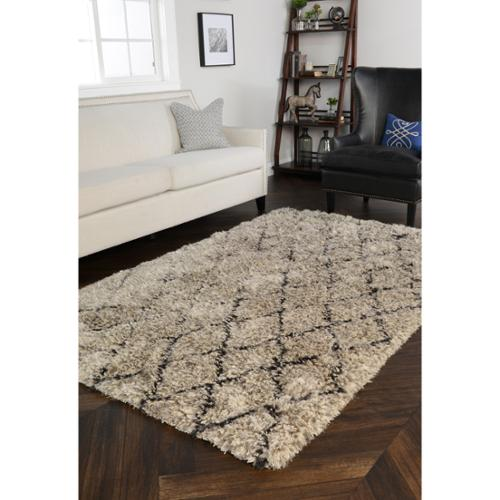 Kosas Home  Gem Diamond Shag Rug (5' x 8')