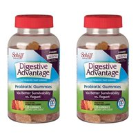 schiff digestive advantage probiotic gummies - 2 bottles, 120 gummies each