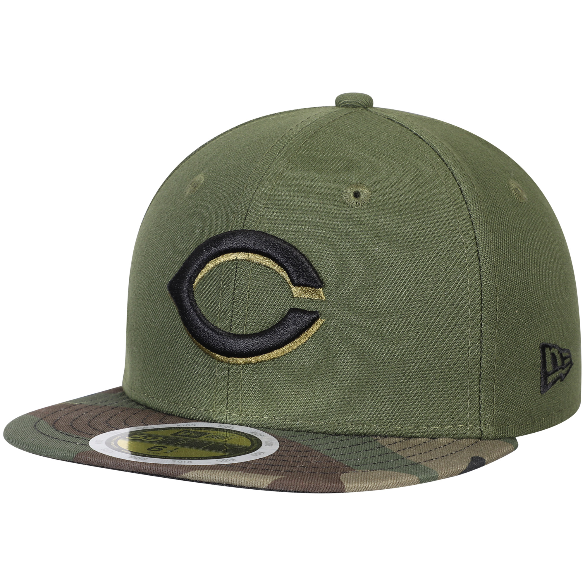 Cincinnati Reds New Era Youth Authentic Collection On-Field 59FIFTY Fitted Hat - Green