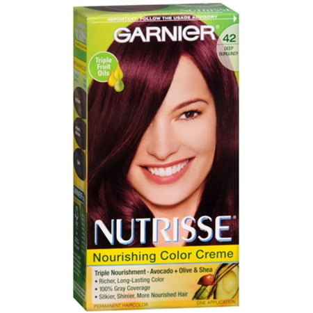 Garnier Nutrisse Haircolor - 42 Black Cherry (Deep Burgundy) 1 -