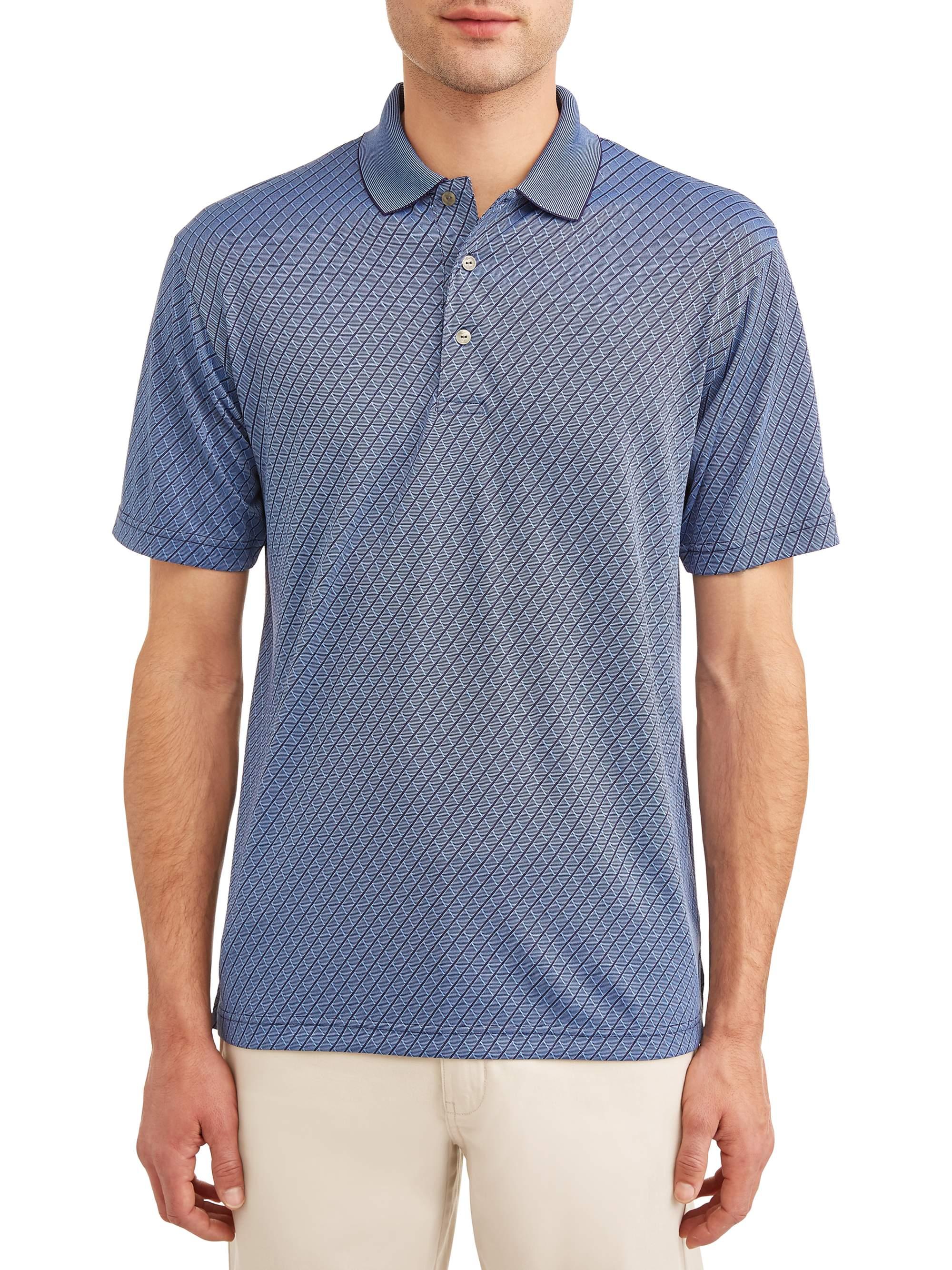 Men's Performance Short Sleeve Textured Polo Shirt