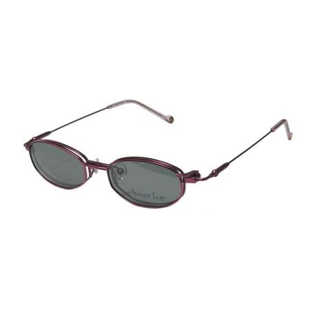 New Smartclip 281 Mens/Womens Designer Full-Rim Violet Optical With Polarized Clip-on Lenses Frame Demo Lenses 46-17-135 Sunglass Lens Clip-Ons Flexible Hinges Eyeglasses/Eyeglass Frame