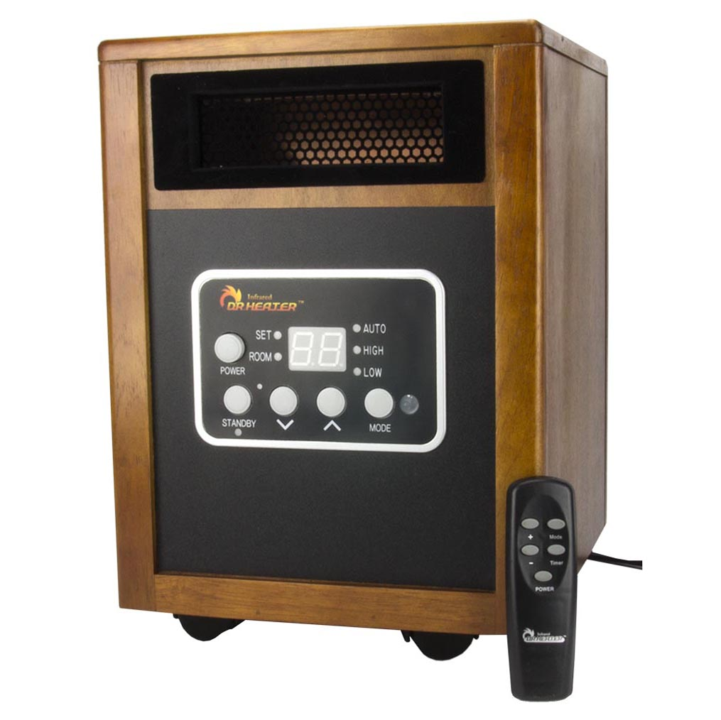 Dr. Infrared Heater DR-968 1500 Watt Portable Electric Space Heater (Quartz+PTC)