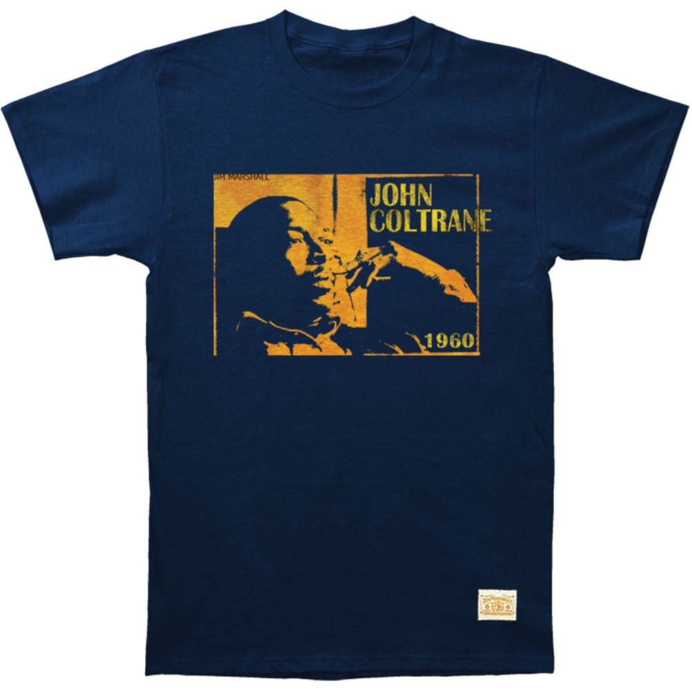 John Coltrane Men's  Focused Vintage T-shirt Navy