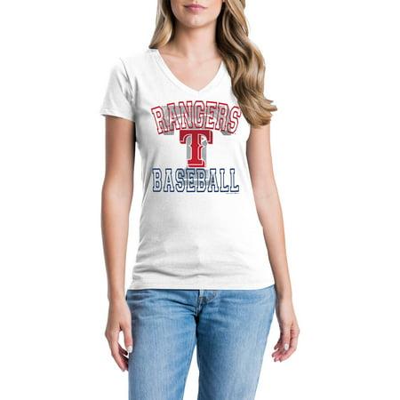 Texas Rangers Womens Short Sleeve Graphic Tee