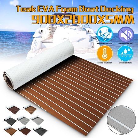 10 Color Marine Boat Sheet Faux Teak Decking Yacht Flooring EVA Foam Floor Sheet Self-Adhesive