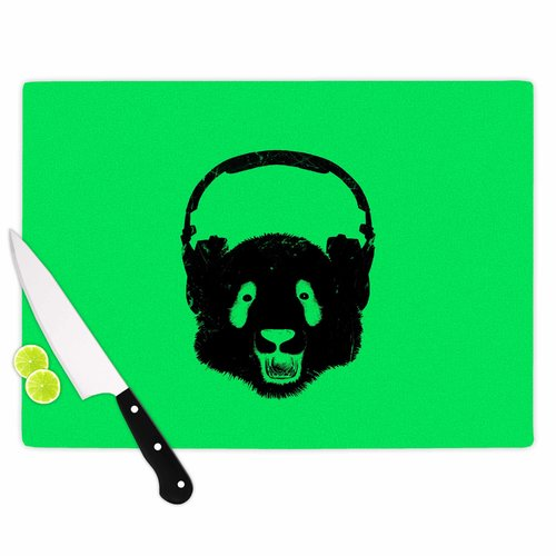 East Urban Home Glass 'Panda' Cutting Board