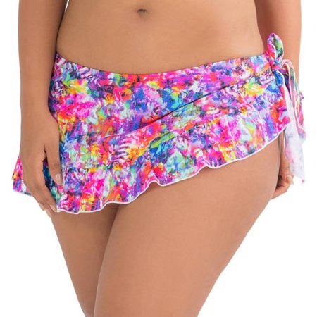 8889e9d5f9 Fruit Of The Loom - Women's Ruffle Skirted Bikini Swimsuit Bottom ...