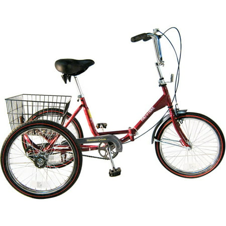 Adult Single Speed Folding Tricycle