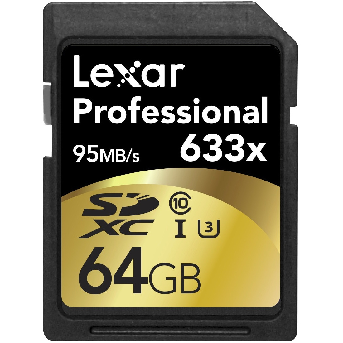 Lexar Professional 64 Gb Secure Digital Extended Capacity [sdxc] - Class 10/uhs-i [u3] - 95 Mbps Read - 45 Mbps Write - 633x Memory Speed (lsd64gcbnl633)