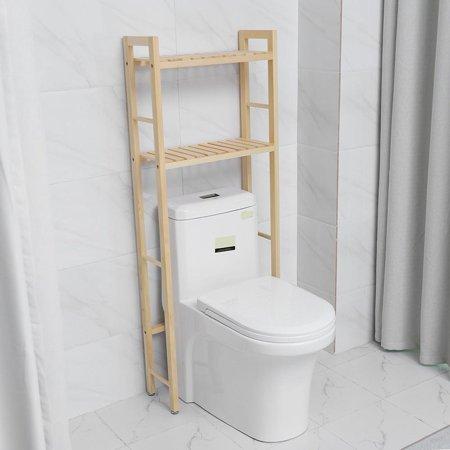- HERCHR Toilet Shelf, 2-Tier Wood Construction Storage Shelf Rack Over Toilet Compact Bathroom Organizer, Storage Rack