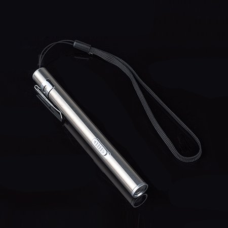 USB Mini Rechargeable Flashlight Stainless Steel Strong Light LED Flashlights Portable Waterproof...