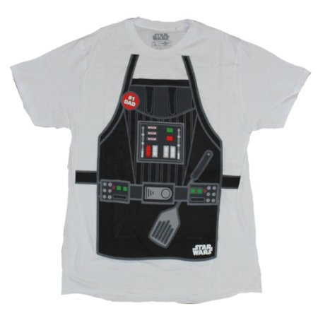 Star Wars Mens T-Shirt - Number One Dad Grilling Apron Darth vade Front - Frill Front Shirt