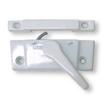 (5 Pack) Sash Lock - Die Cast - White With Screws Cast Metal Hardware