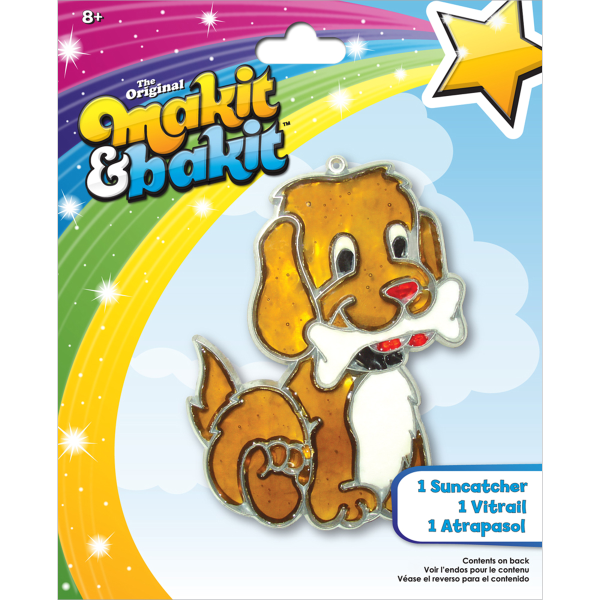 Colorbok Makit & Bakit Suncatcher Kit Stained Glass Puppy Bone Multi-Colored