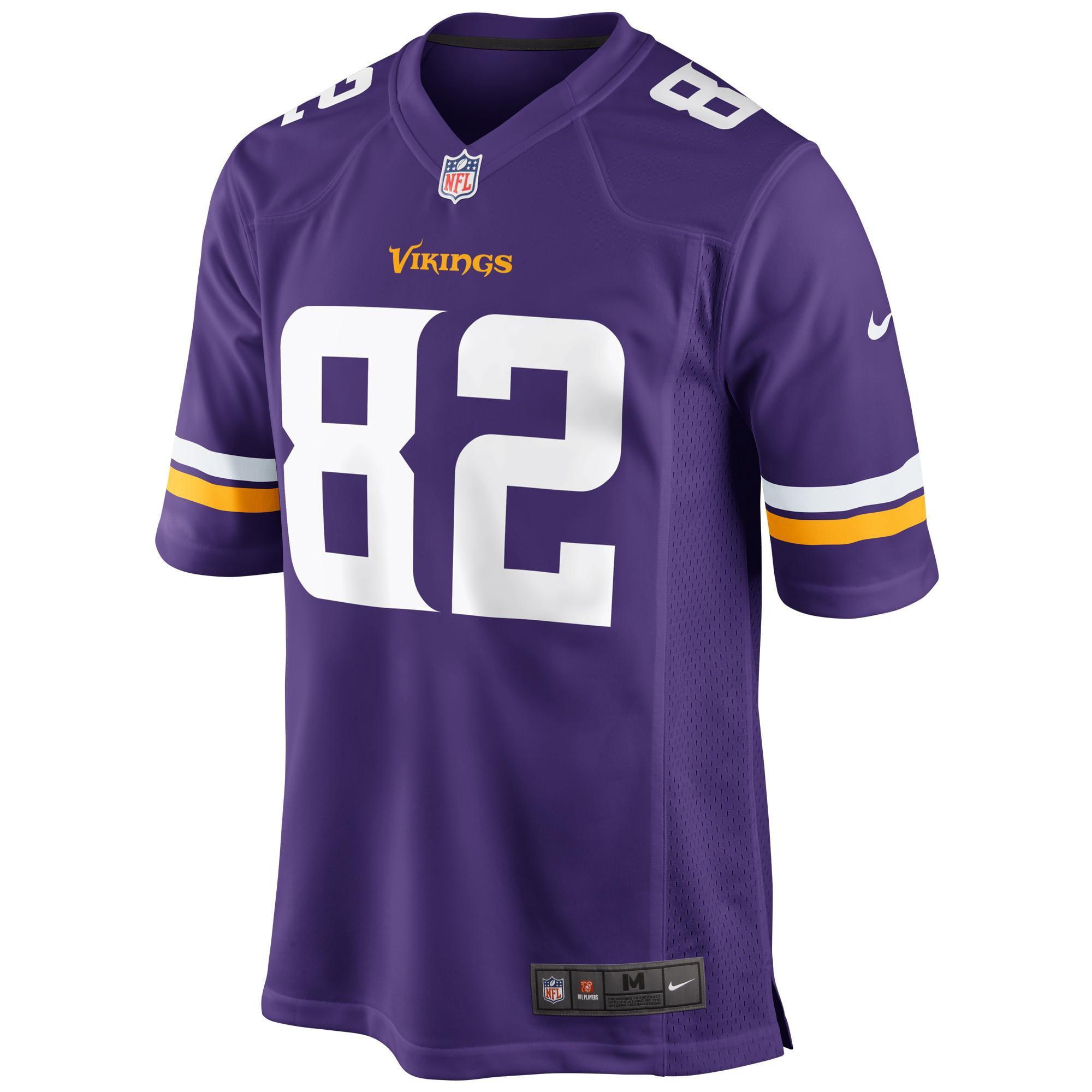 Kyle Rudolph Minnesota Vikings Nike Youth Team Color Game Jersey - Purple