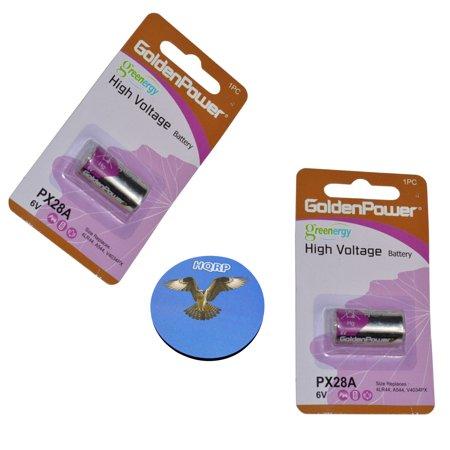 HQRP 2-Pack 6-Volt Battery for PetSafe RFA-18, RFA-18-11, PBC19-11043, PBC00-12724, PBC19-13095 Bark Control Receiver Dog Collar + HQRP Coaster (Petsafe Elite Bark Collar)