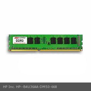 HP Inc. B4U36AA equivalent 4GB DMS Certified Memory DDR3-1600 (PC3-12800) 512x64 CL11  1.5v 240 Pin DIMM - DMS