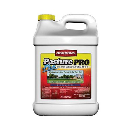 Pbi Gordon 7171122 Pasture Pro Plus One-Step Weed & Feed, 15-0-0 Formula, 2.5-Gal. (Best Weed And Feed For Horse Pasture)