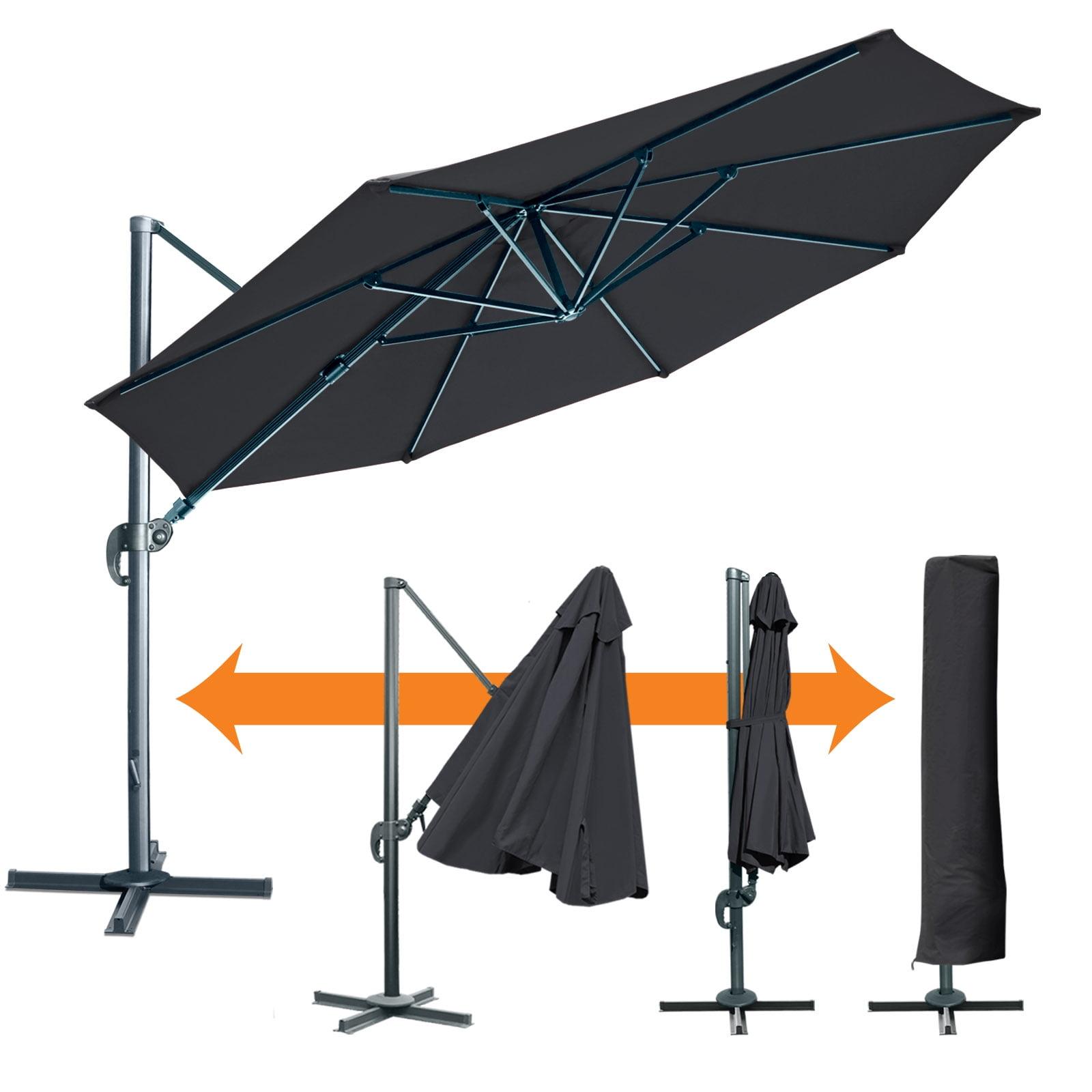 Uv Patio Umbrella: Sunrise 11.5ft Outdoor Patio Cantilever Umbrella, UV 50