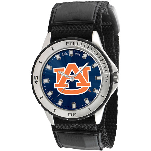 Game Time NCAA Men's Auburn University Tigers Veteran Series Watch, Black Velcro Strap