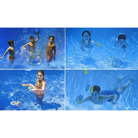 4 in 1 fun pack swimming pool games basketball ring for Pack swimming