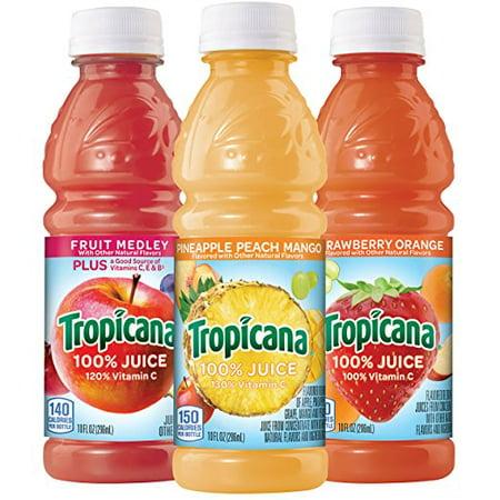 Tropicana 100% Fruit Juice, Fruit Blend Variety Pack, 10 Fl Oz, 24 Count