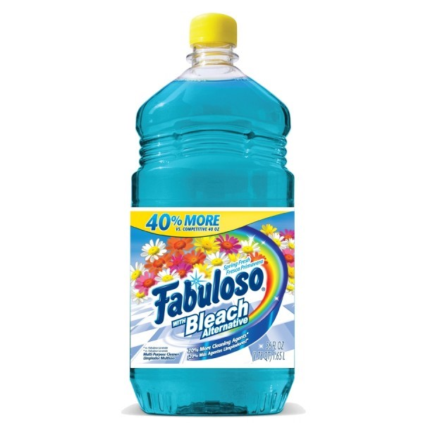 (2 pack) Fabuloso All-Purpose Cleaner with Bleach Alternative, Spring Fresh - 56 fl oz