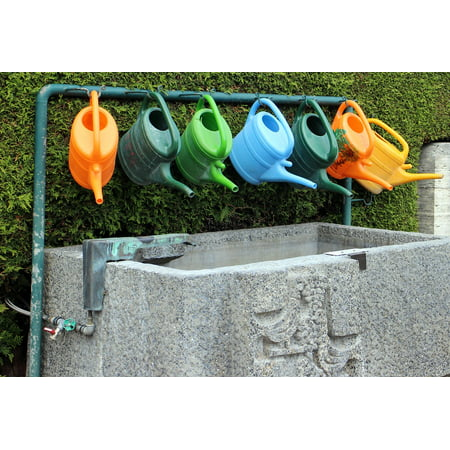 Framed Art For Your Wall Water Watering Can Pot Irrigation Casting Garden 10x13 Frame
