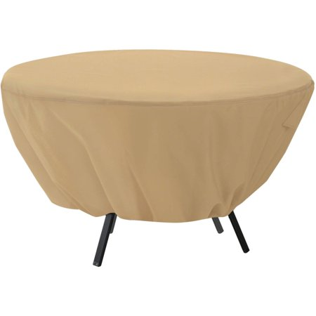 Classic Accessories Terrazzo ® Round Patio Table Cover - All Weather Protection Outdoor Furniture Cover (58202-EC)