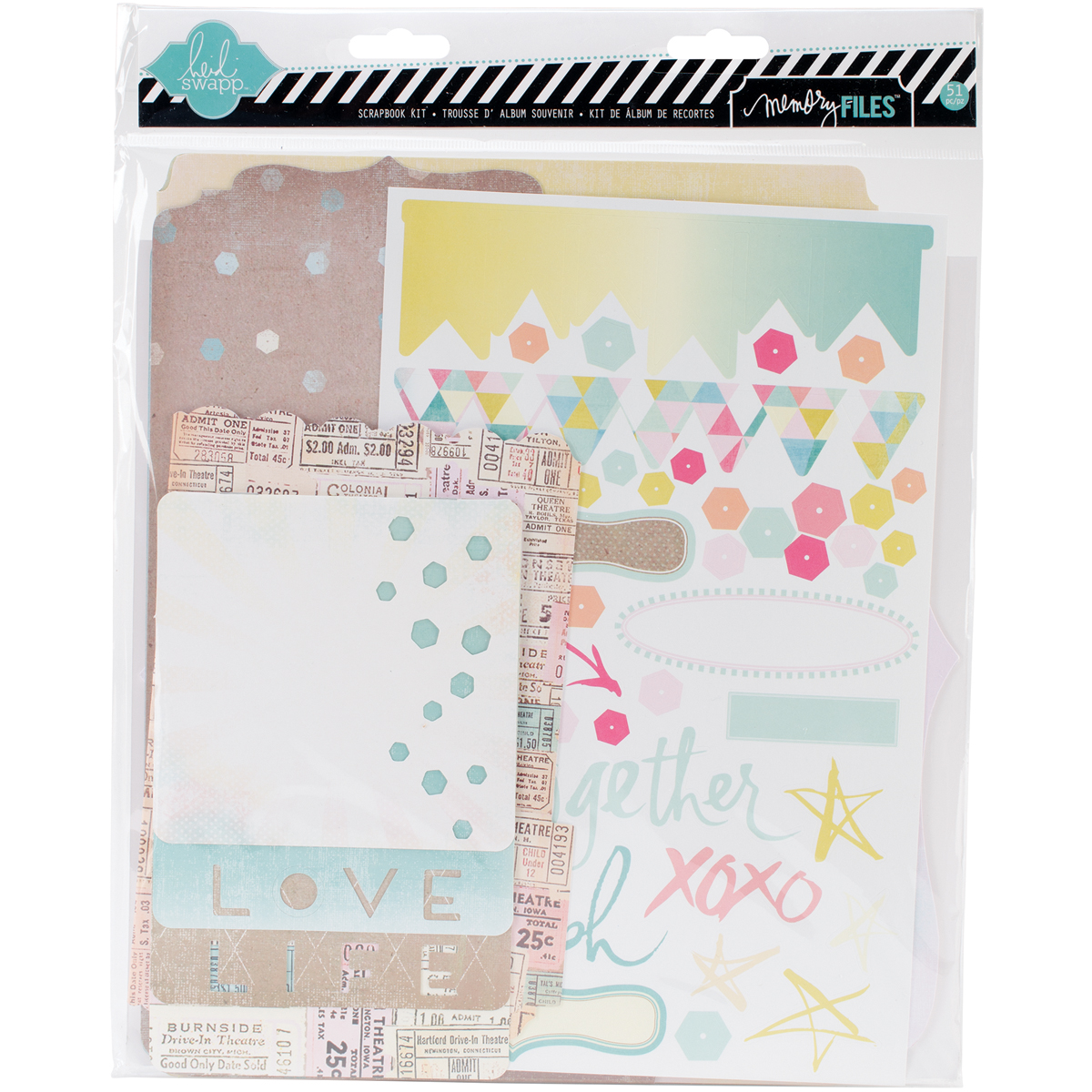 Dreamy Memory Files Kit, Fotostack Booklet, 4 Files and Stickers