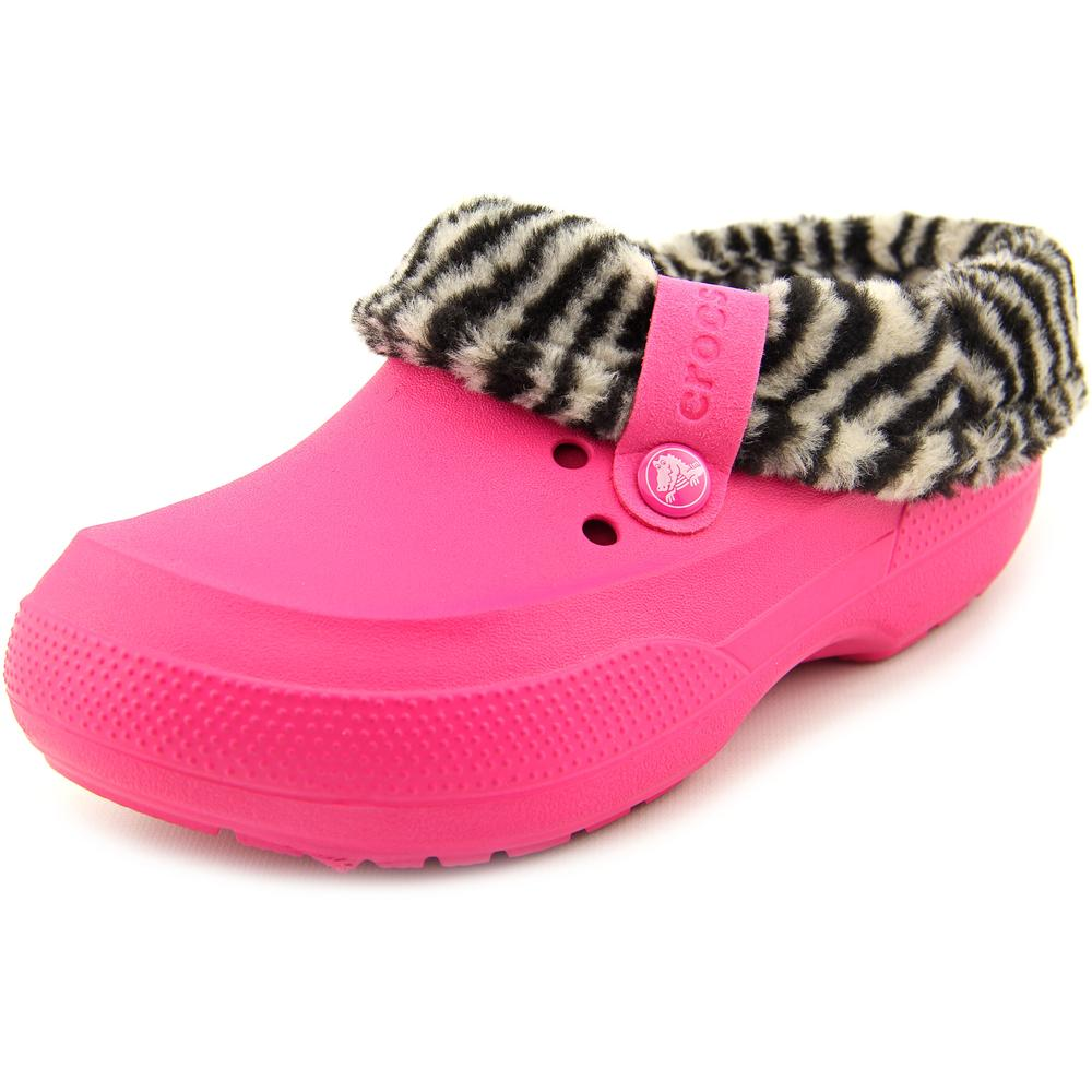 Crocs Blitzen II Youth Round Toe Synthetic Pink Clogs by Crocs