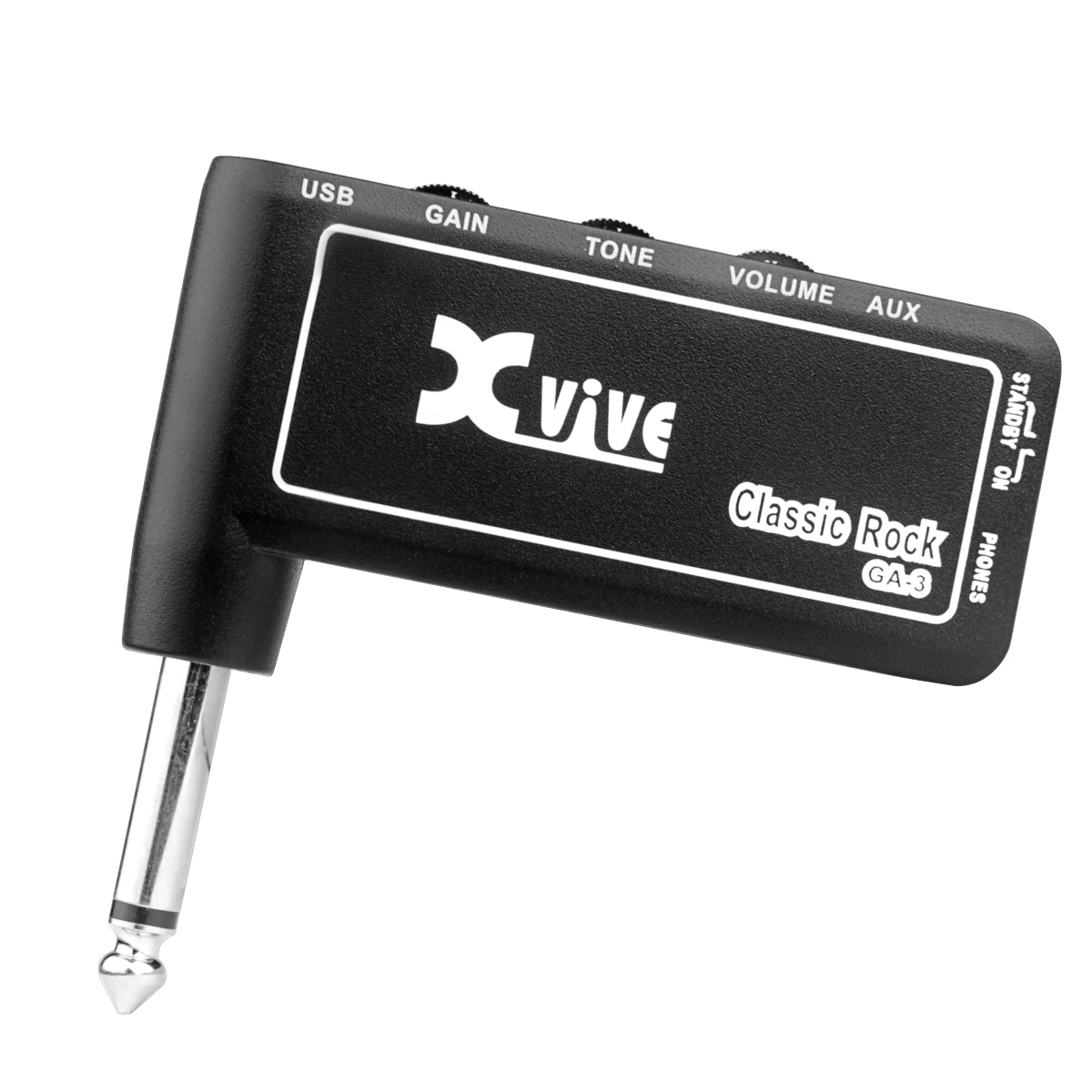 "Mini Headphone AMP Classic rock Amplug USB Charge Accept 1/4"" Guitar Cable"