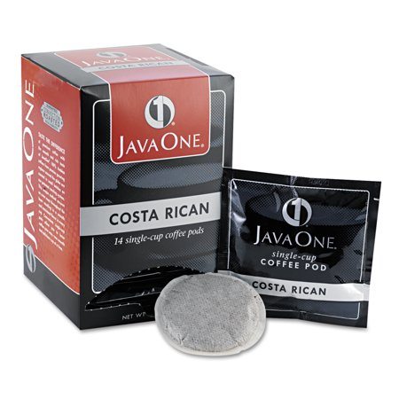 Java One Coffee Pods  Estate Costa Rican Blend  Single Cup  14 Box