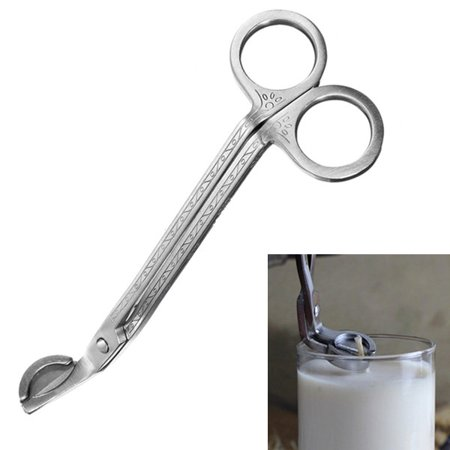 Cutter Scissors (Candle Wick Oil Lamp Stainless Steel Trim Trimmer Scissors Cutter Snuffers Tool Today's Special Offer!)
