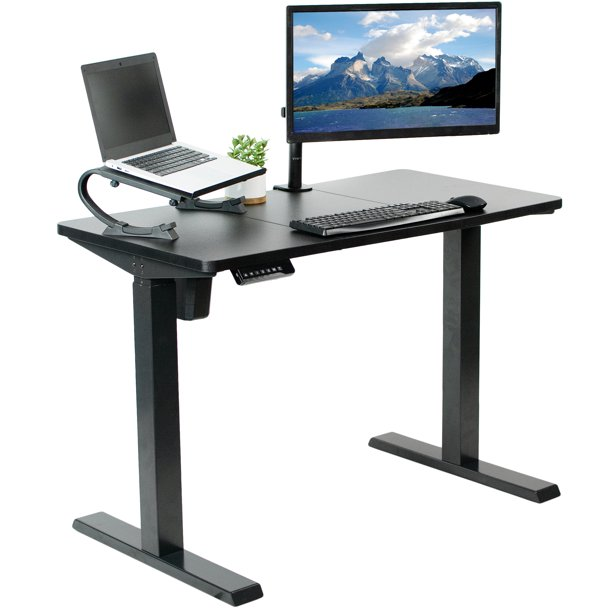 "VIVO Black Electric 43"" x 24"" Stand Up Desk 
