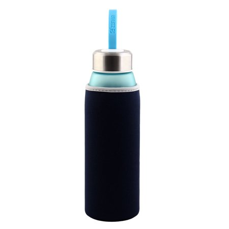 Spandex Heat Insulated Anti Scald Hands Protector Glass Mug Cup Sleeve Navy Blue - image 1 of 6
