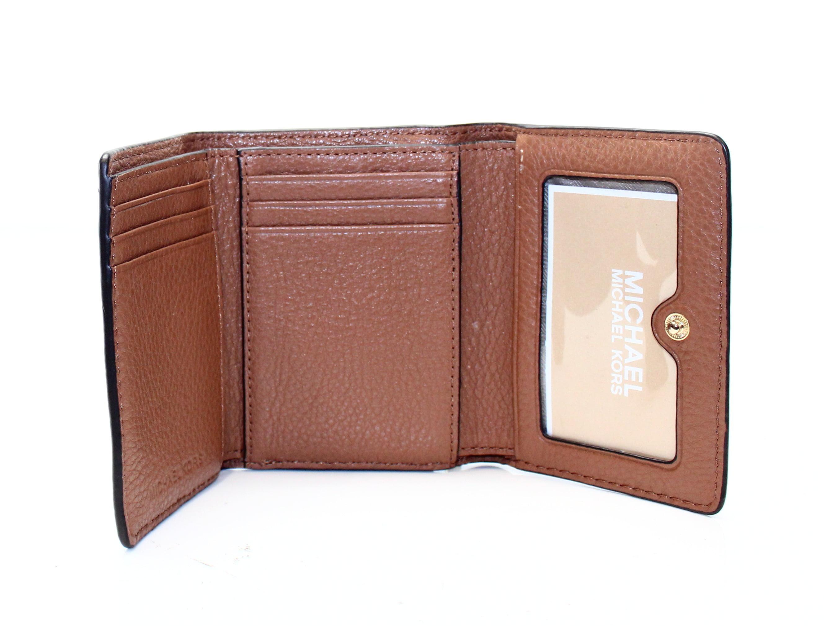 eb5c6692a3ba Michael Kors - Michael Kors NEW Brown Pebble Leather Liane Billfold Card  Holder Wallet - Walmart.com