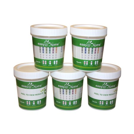 (5 Pack) Easy@Home 14 Panel Instant Urine Drug Test Cup
