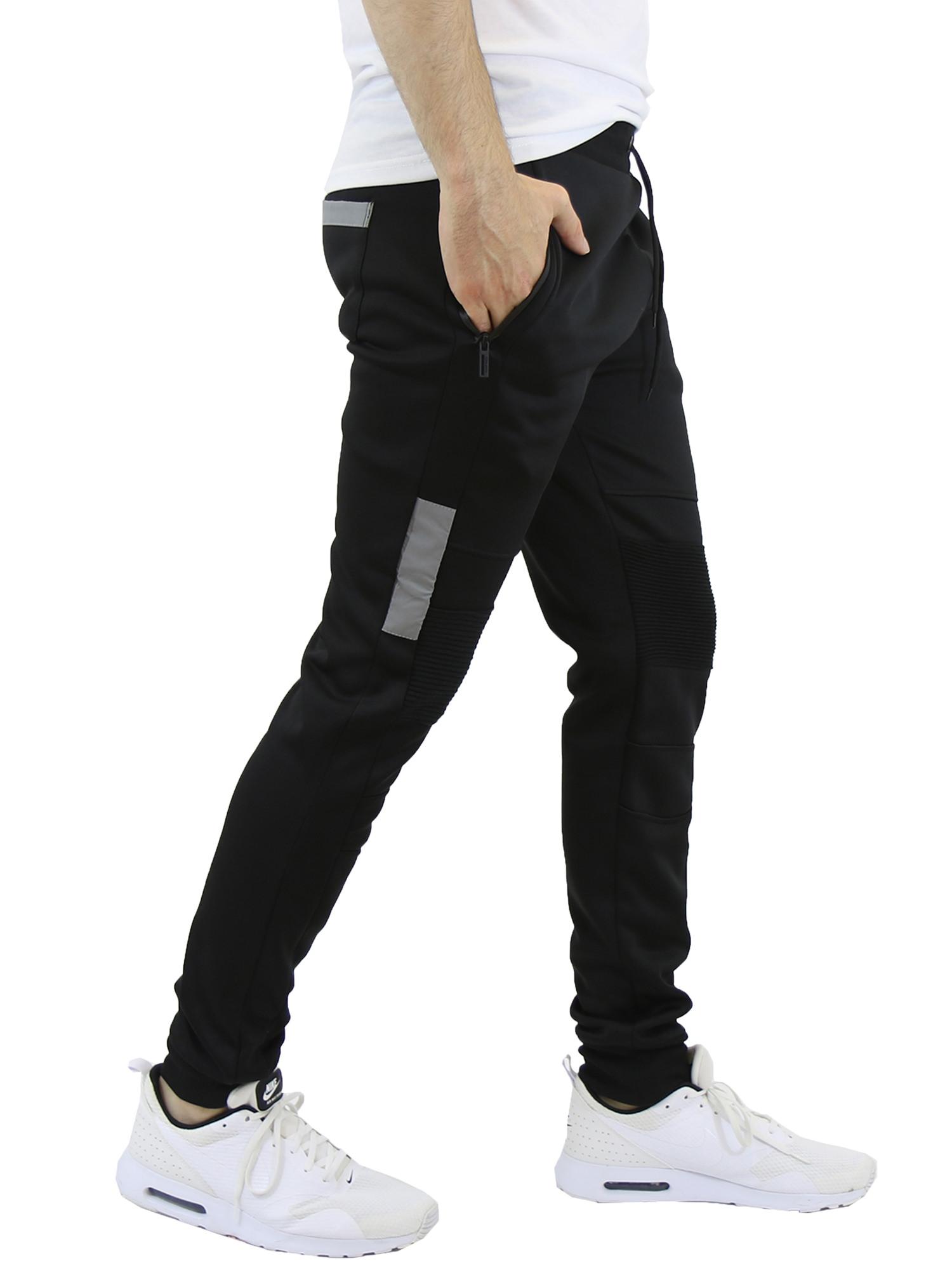 Men's Fleece-Lined Joggers with Zipper Pockets