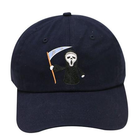 City Hunter C104 Halloween Scary Movie Cotton Baseball Caps - Navy