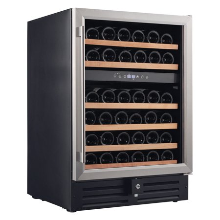 Smith & Hanks 46-Bottle Dual Zone Built-In or Free Standing Wine Refrigerator