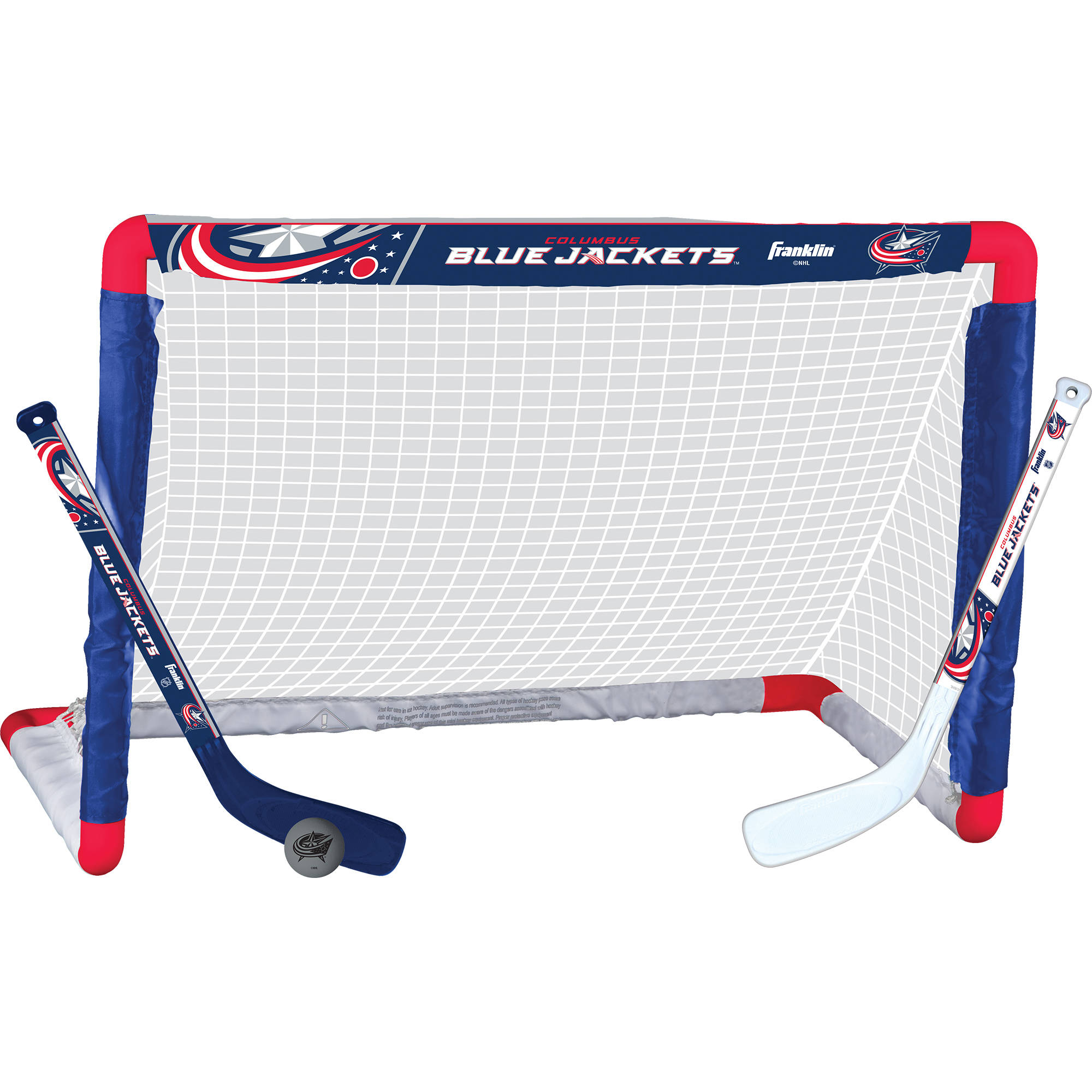 Franklin Sports NHL Columbus Blue Jackets Mini Hockey Set