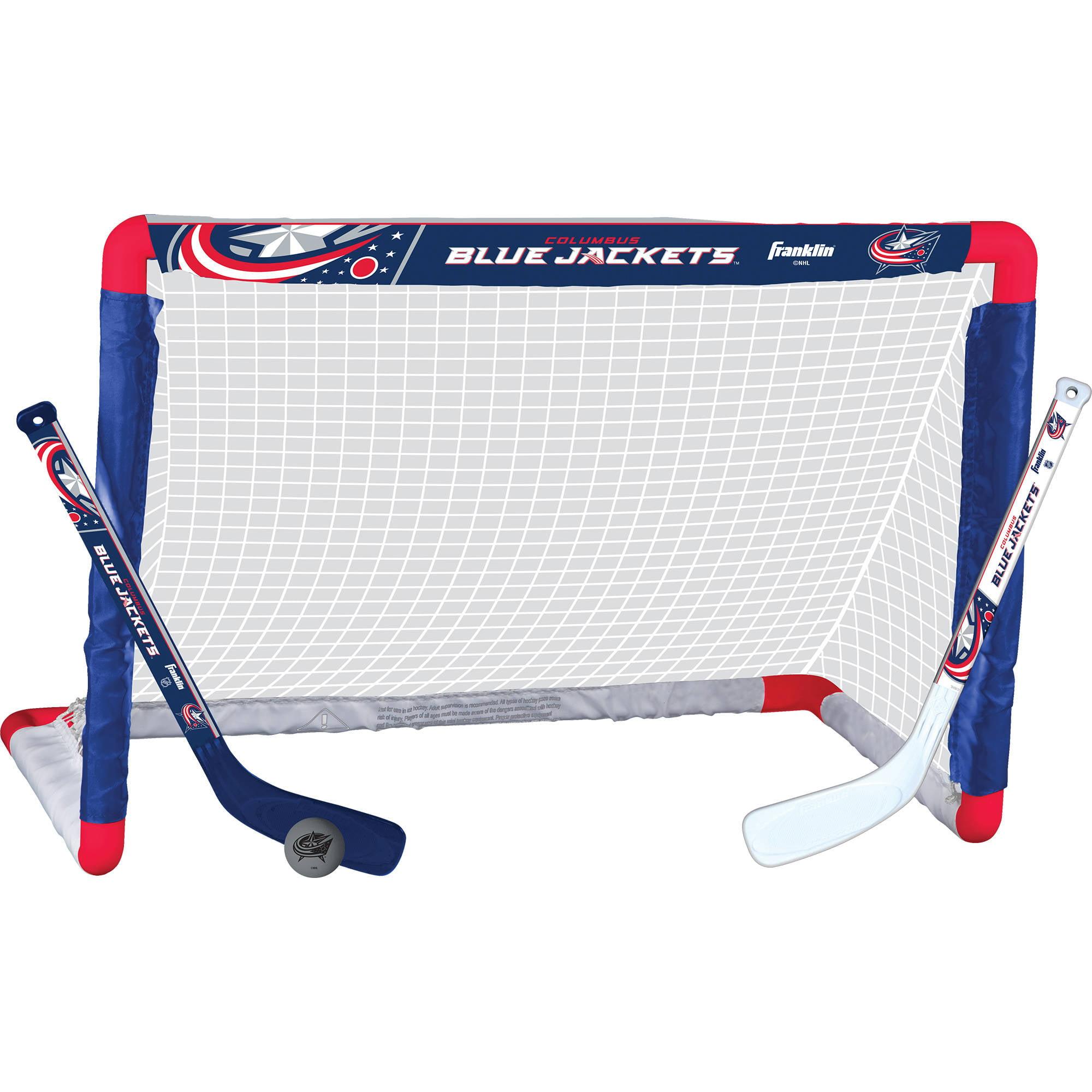 Franklin Sports NHL Columbus Blue Jackets Mini Hockey Set