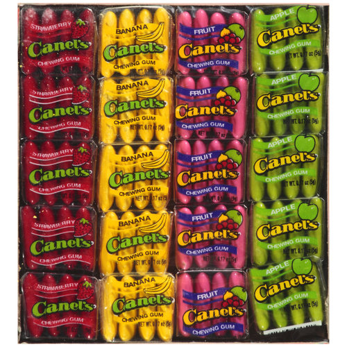 Canel's Assorted Fruit Flavors Chewing Gum, 4 pc, 20 ct
