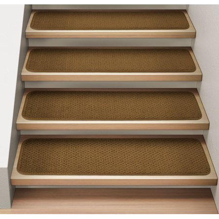 Indoor/Outdoor Non-Slip Carpet Stair Treads, Set of 15, Seashore ...
